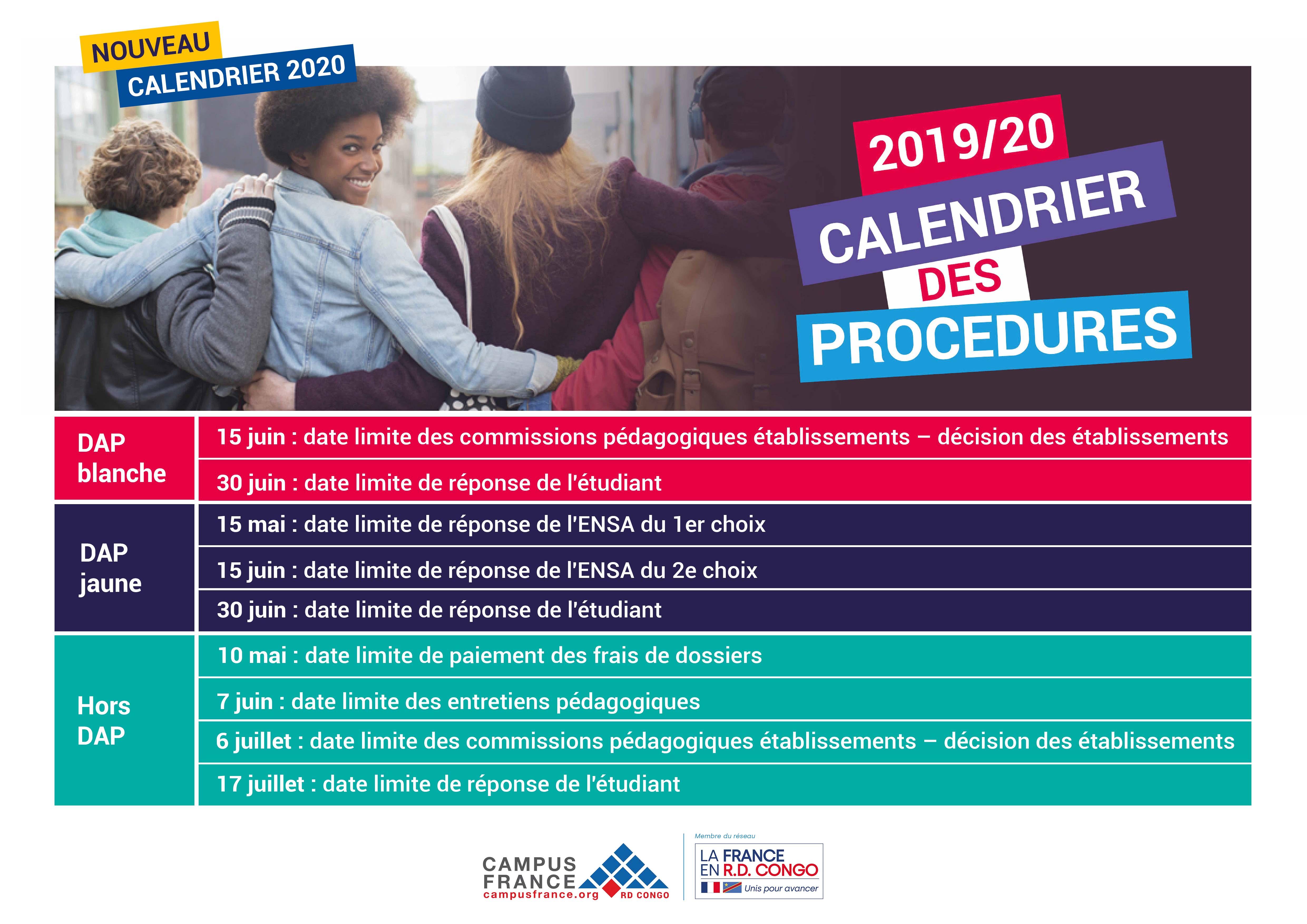 Nouveau Calendrier 2020 | Campus France
